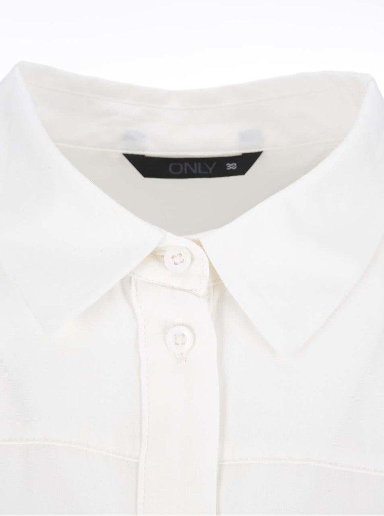 Krémová delší košile ONLY Bijou