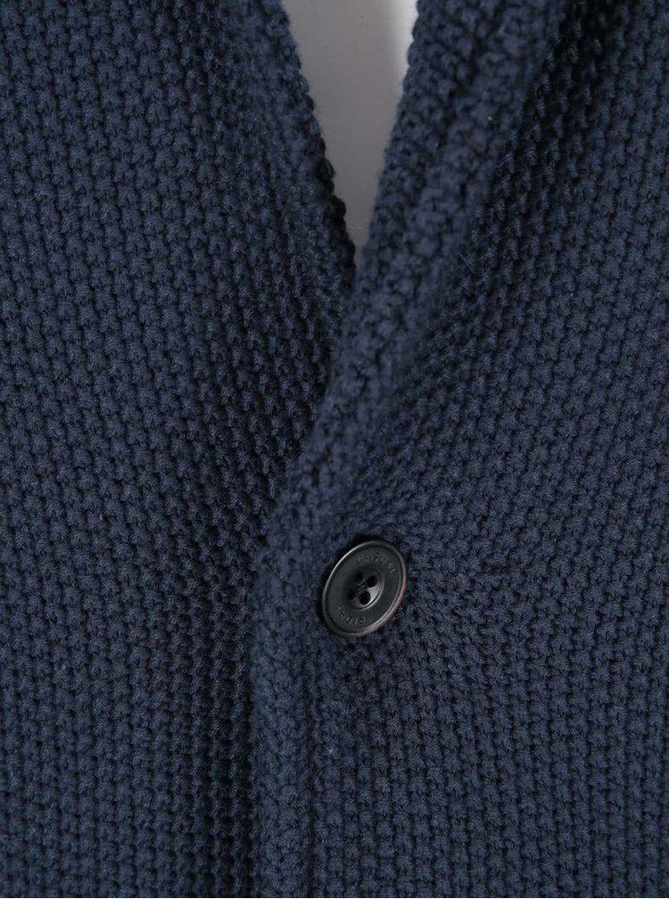Tmavomodré svetrové sako Casual Friday by Blend