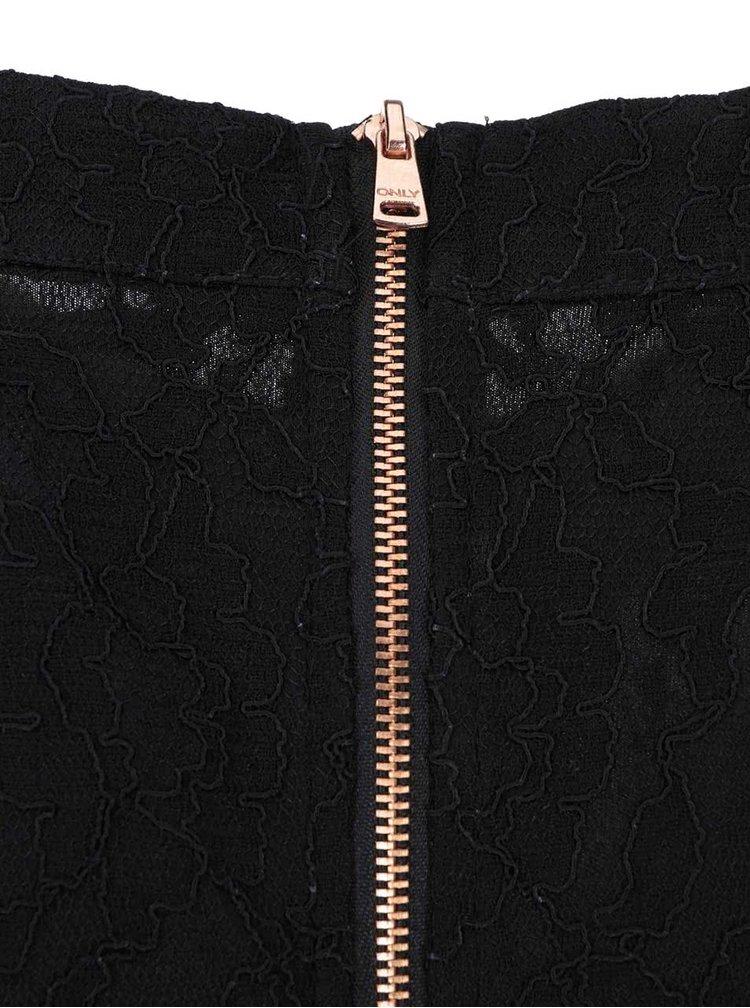 Černé krajkové šaty ONLY Marva