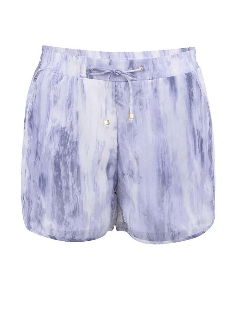 Bielo-fialové kraťasy VERO MODA Marble