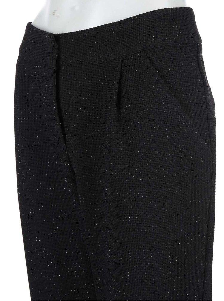 Čierne nohavice s trblietavými niťami Paper Dolls