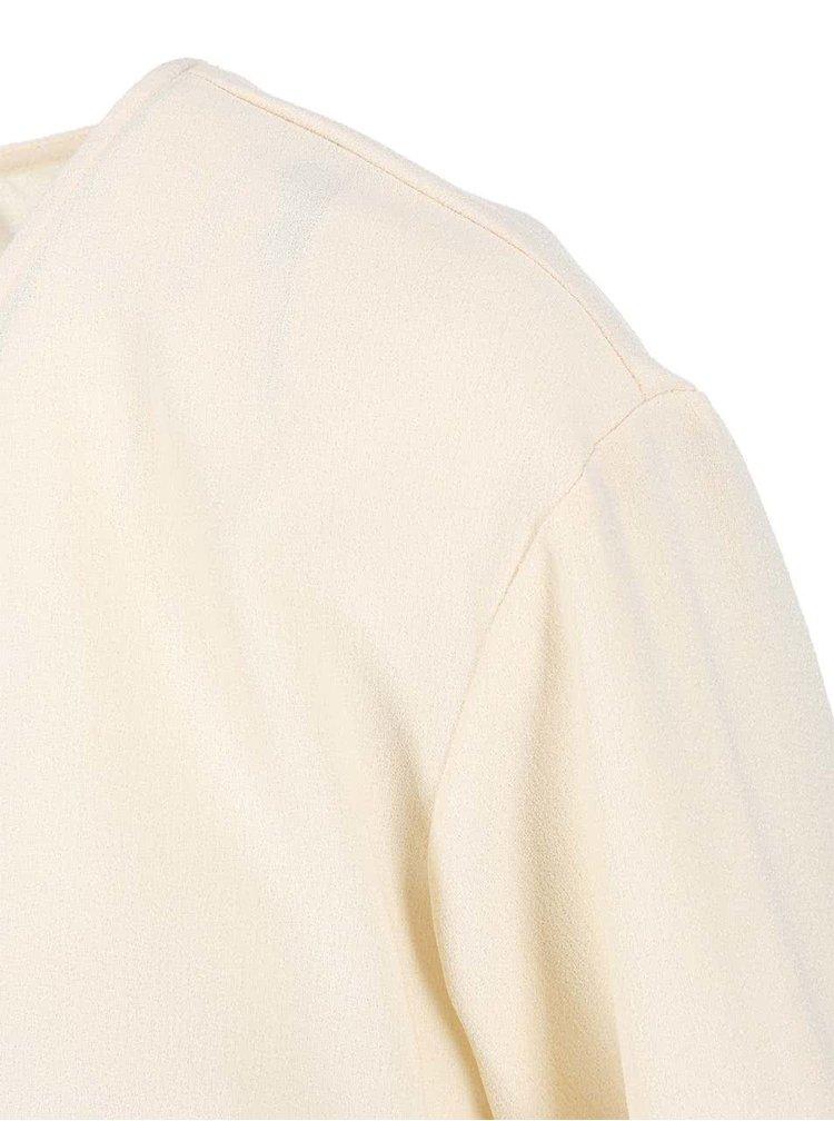 Krémový volnější top VERO MODA Kion