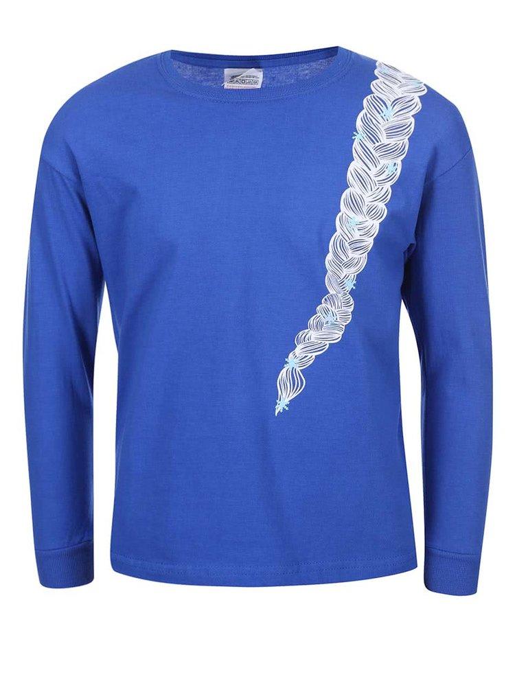 Modré dievčenské tričko s dlhým rukávom ZOOT Kids Copánek