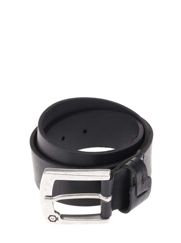 Čierny kožený opasok Jack & Jones Greb