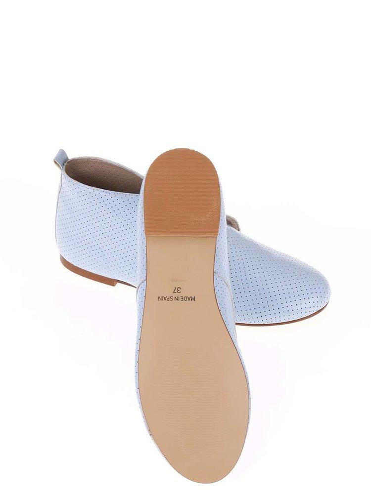 Pantofi OJJU din piele albastru deschis