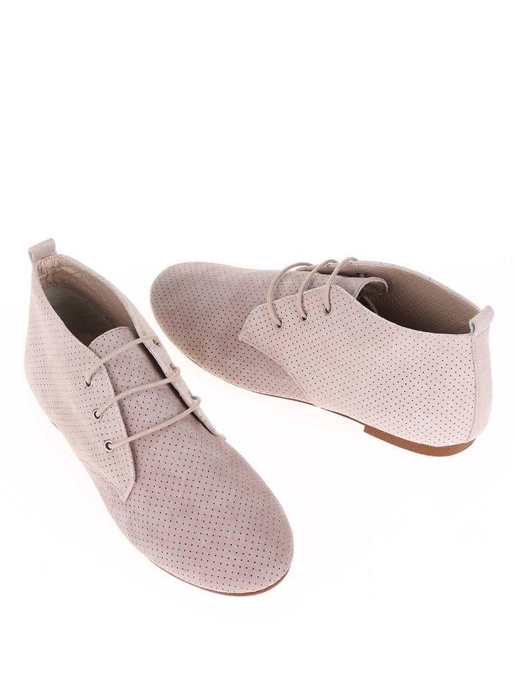 Pantofi Oxford din piele întoarsă Bej & Crem OJJU