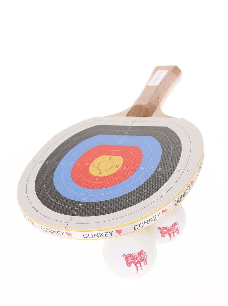 Paleta de tenis de masa cu desen cu tinta de la Donkey