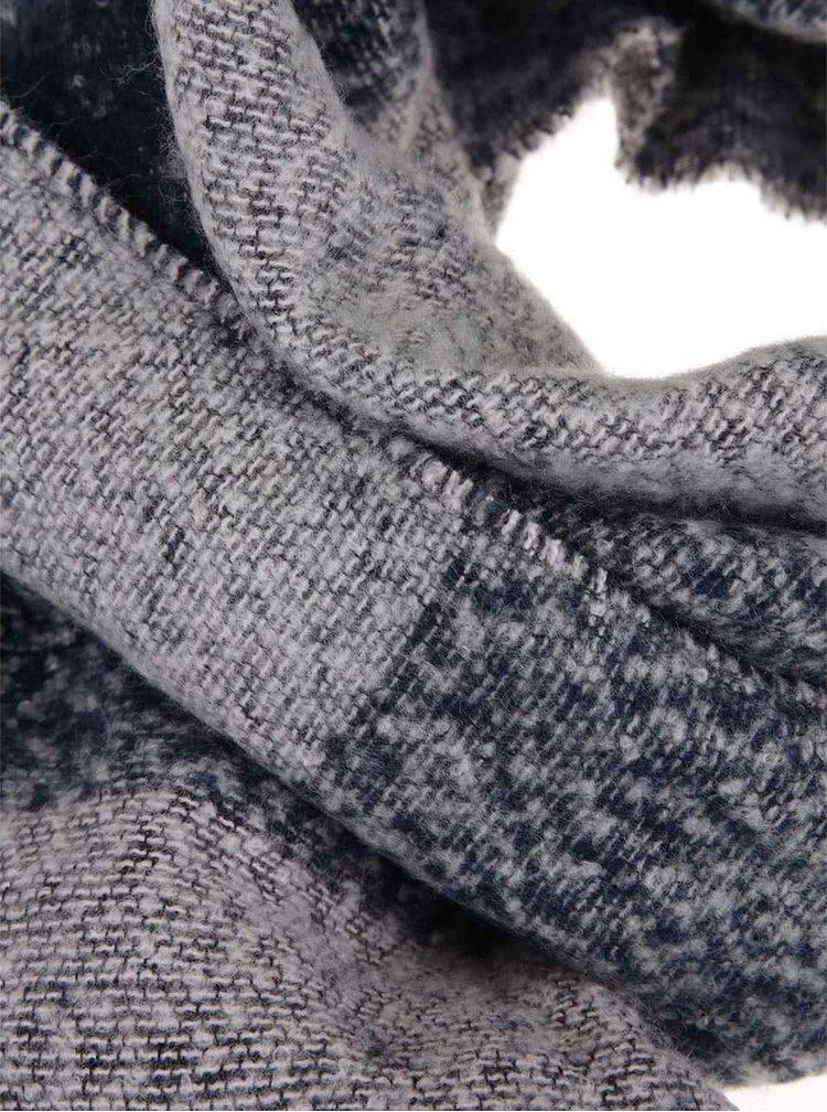 Eșarfă lungă bleumarin&gri Pieces Fylla