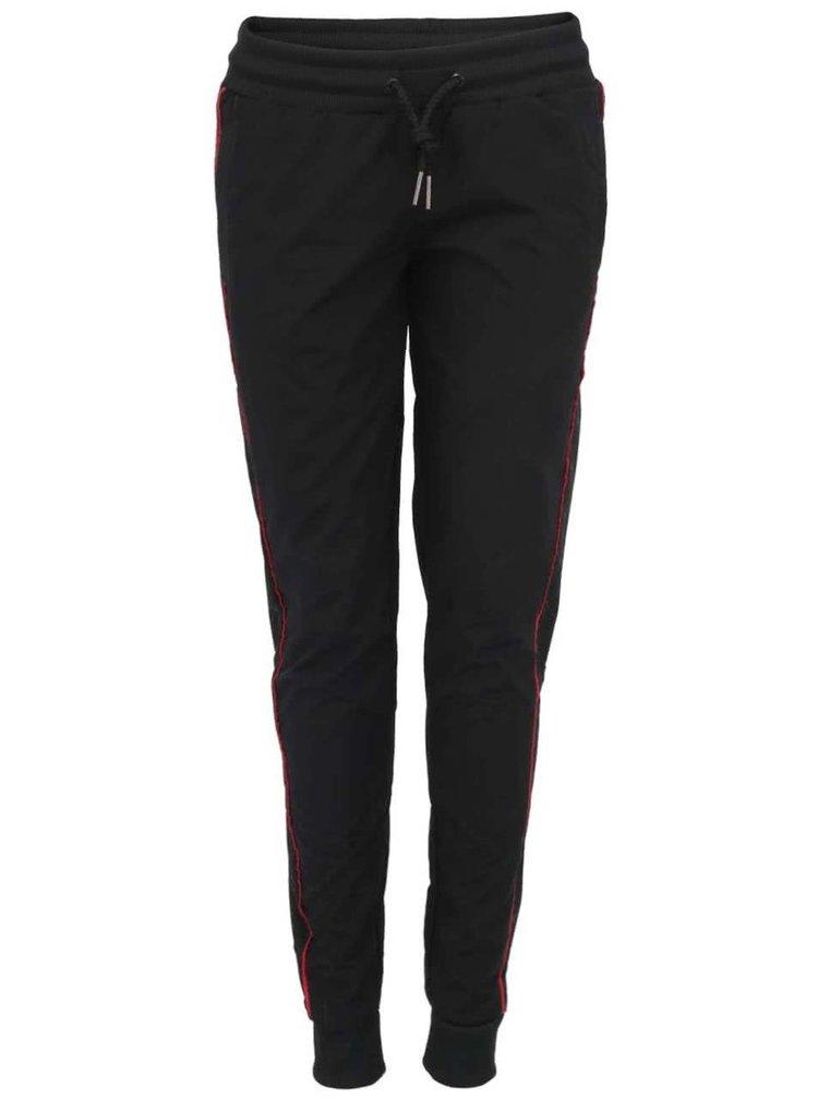 Čierne dámske šuštiakové tepláky Voi Jeans Lady Exceleyj