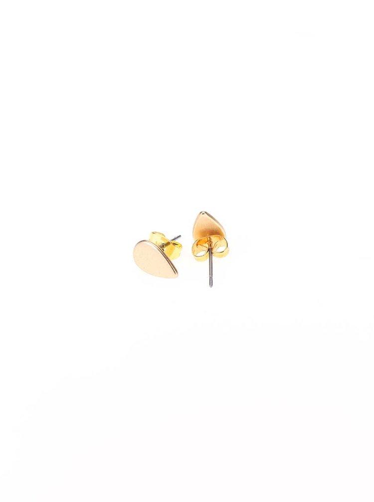 Náušnice v tvare kvapky v zlatej farbe VERO MODA Nora