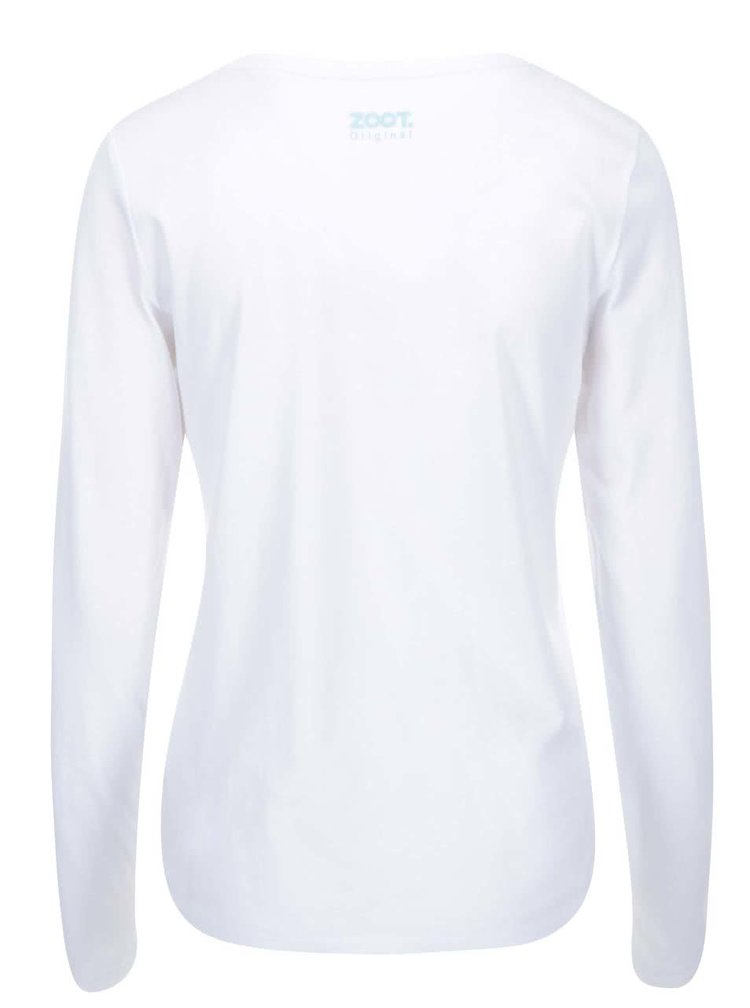 Biele dámske tričko s dlhým rukávom ZOOT Originál Hot Cold