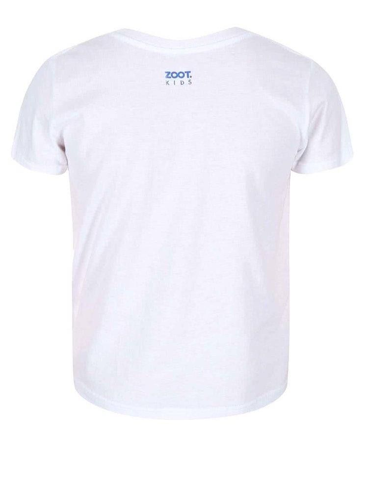 Tricou ZOOT Kids alb cu model pentru baieti