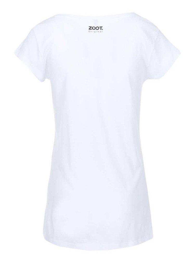 Bílé dámské tričko ZOOT Originál Ležíš