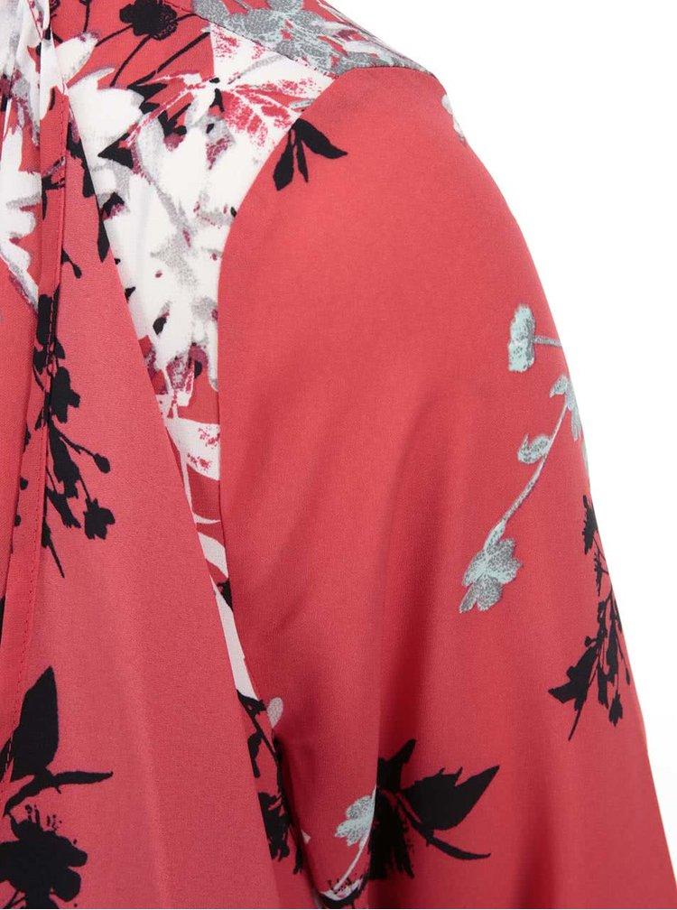 Bluza rosie cu motive florale Dorothy Perkins