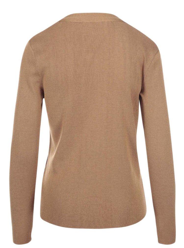 Hnědý svetr s vázankou Dorothy Perkins