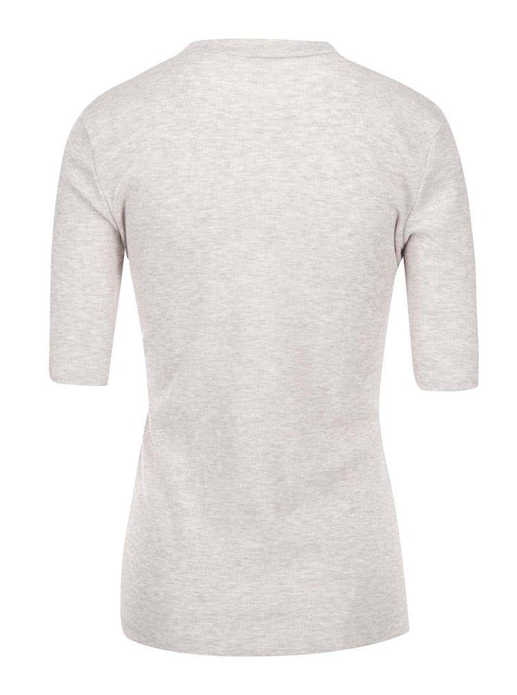 Béžové strečové tričko ke krku Dorothy Perkins