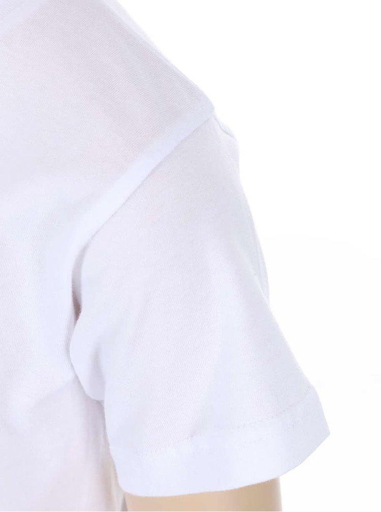 Tricou ZOOT Kids alb pentru copii cu print bulgare de zapada