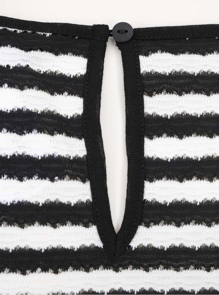 Bílo-černý pruhovaný top Dorothy Perkins Curve