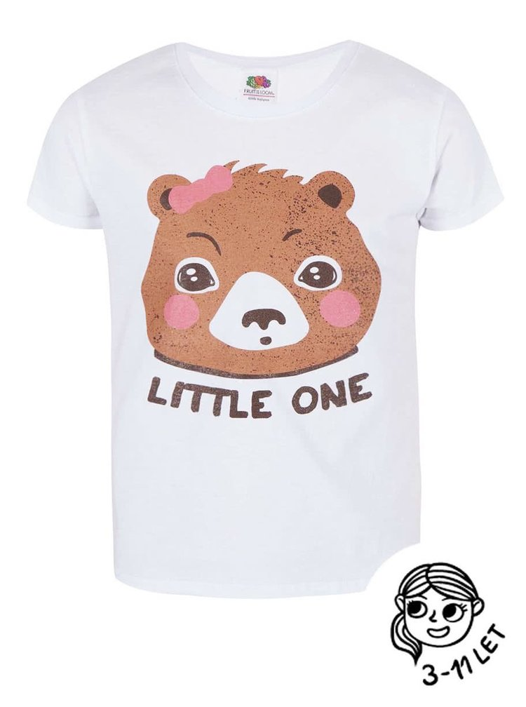 Tricou ZOOT Kids alb cu print pentru fete