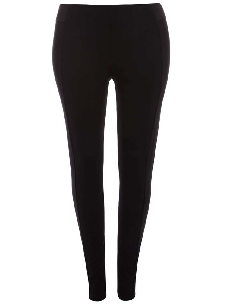 Černé hladké elastické kalhoty Dorothy Perkins Curve