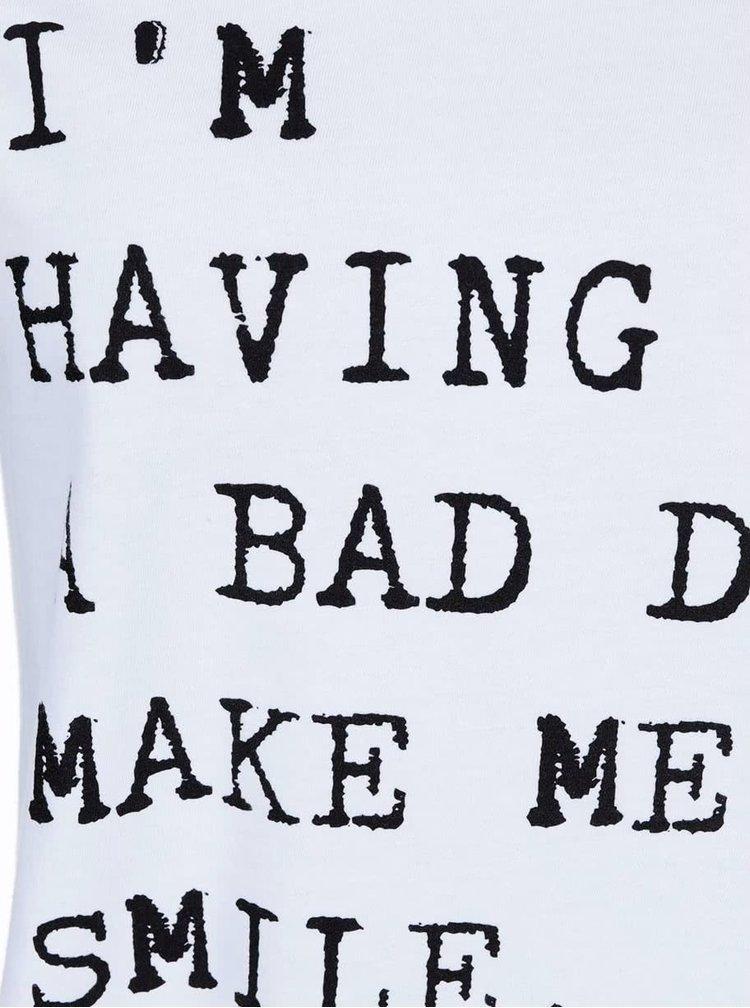 Biele dámske tričko s nápisom ZOOT Originál Bad Day