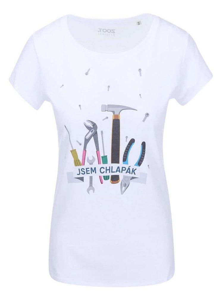 Bílé dámské tričko ZOOT Originál Jsem chlapák