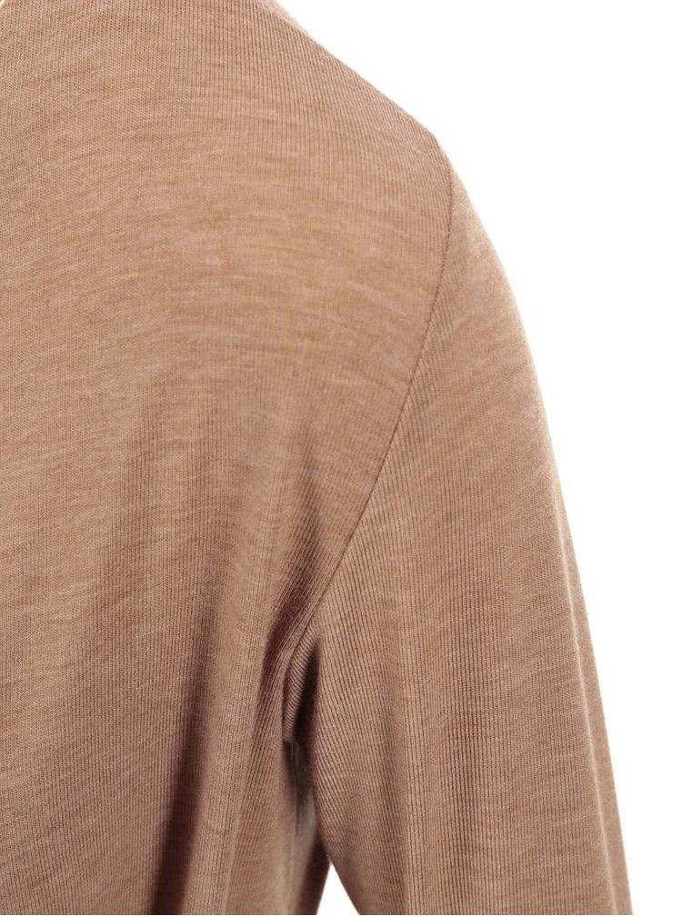 Hnedé zavinovacie tričko Dorothy Perkins