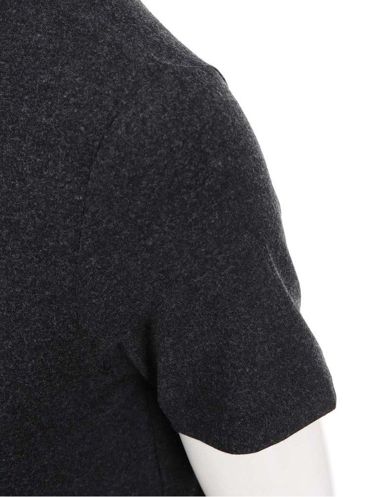 Tmavě šedý asymetrický top s krátkým rukávem Dorothy Perkins