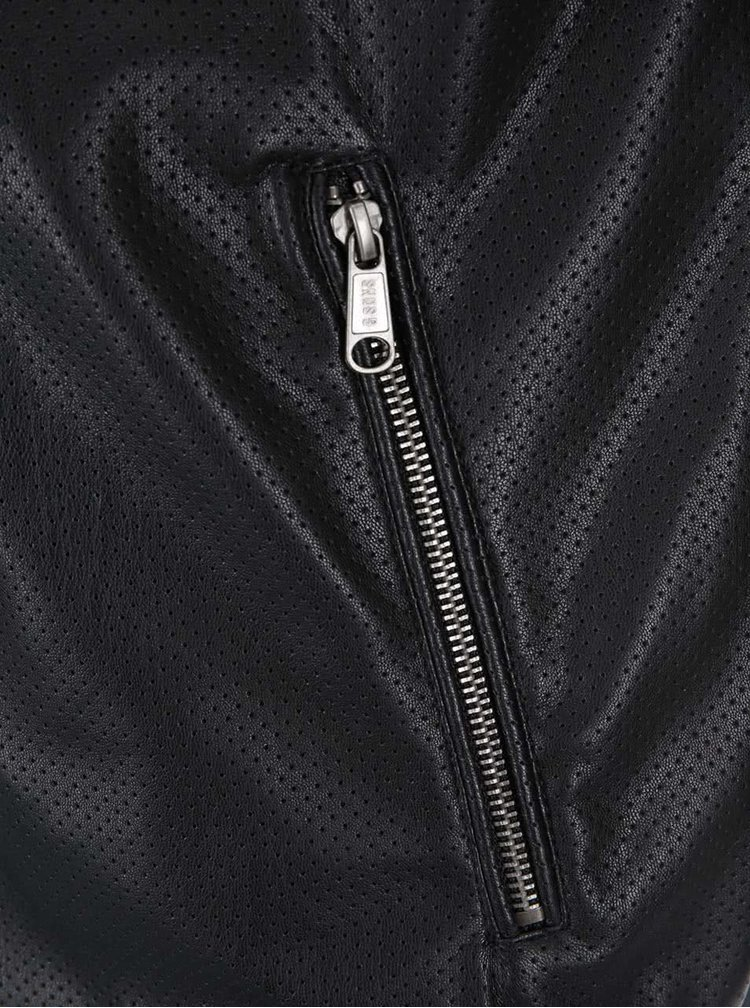 Jacheta bomber neagra  ONLY & SONS London din piele sintetica