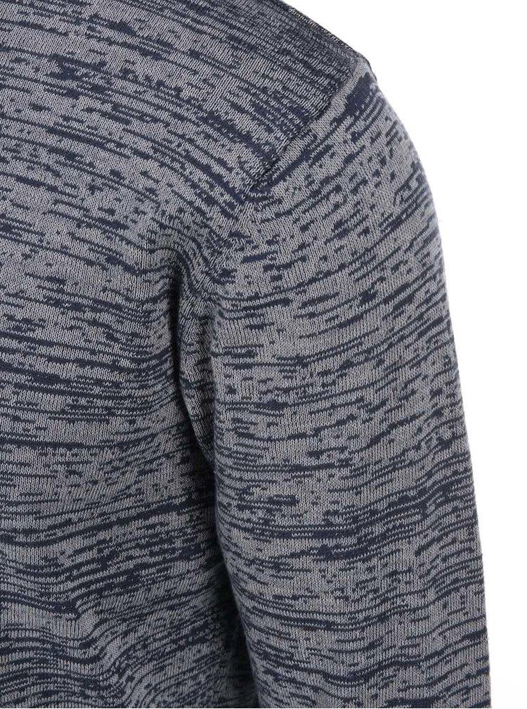 Modro-sivý melírovaný sveter ONLY & SONS Satre