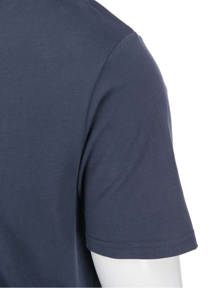 Tricou bleumarin  din bumbac ONLY & SONS Curved