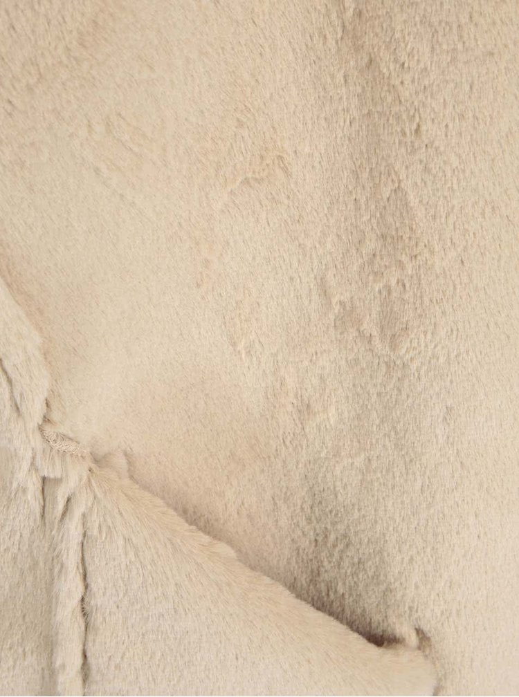 Béžová vesta v semišové úpravě VILA Sheepa