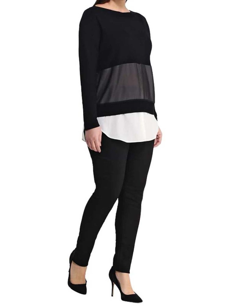 Černé džíny s vysokým sedem a elastickým pasem Dorothy Perkins Curve