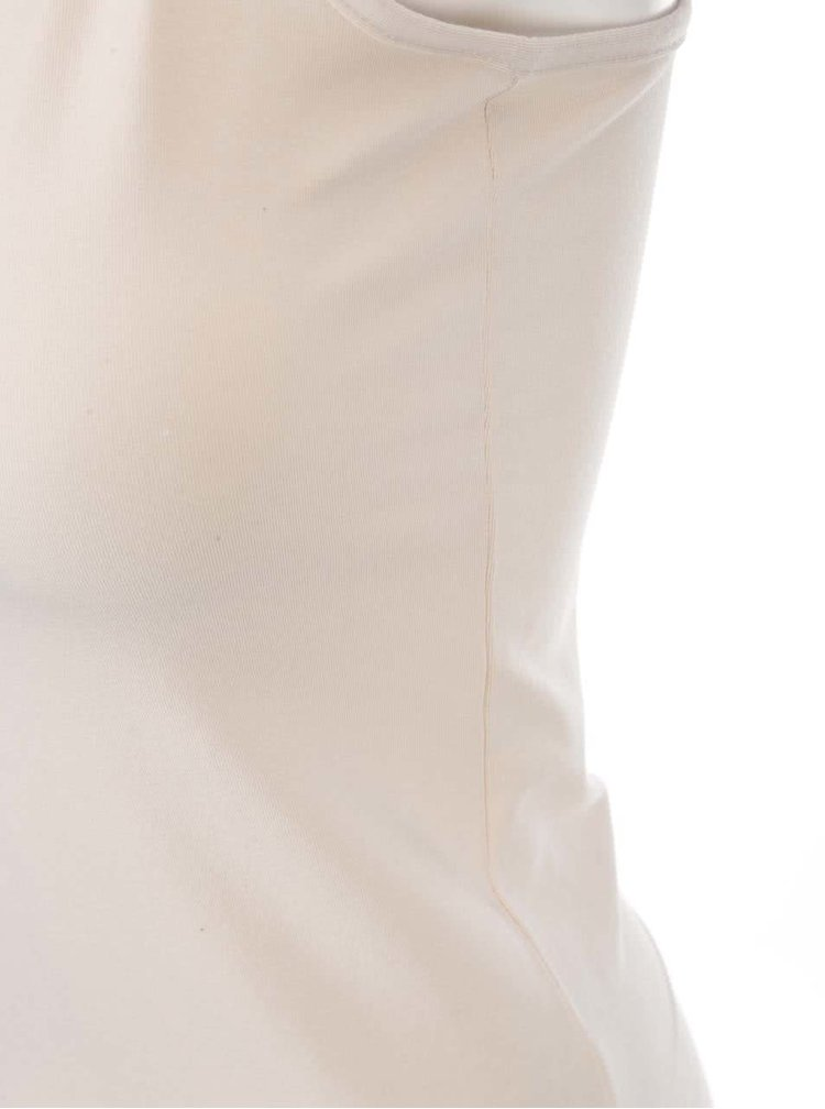 Krémové tielko s úzkymi ramienkami VILA Officiel