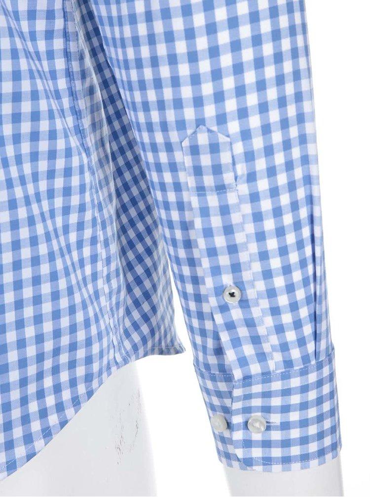 Cămașă în carouri Jack & Jones Oscar alb-albastru