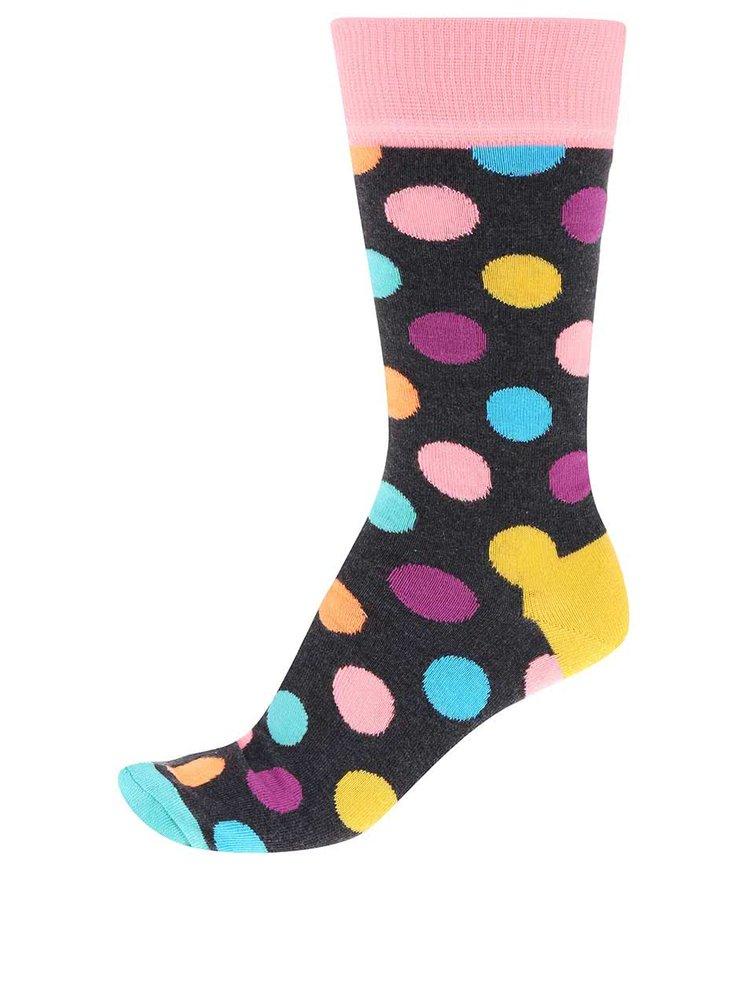 Farebné unisex bodkované ponožky Happy Socks Big Dot