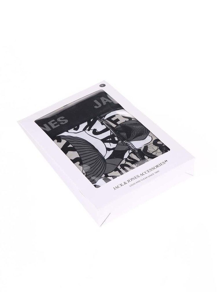 Boxeri negri cu imprimeu Jack & Jones Brooklyn