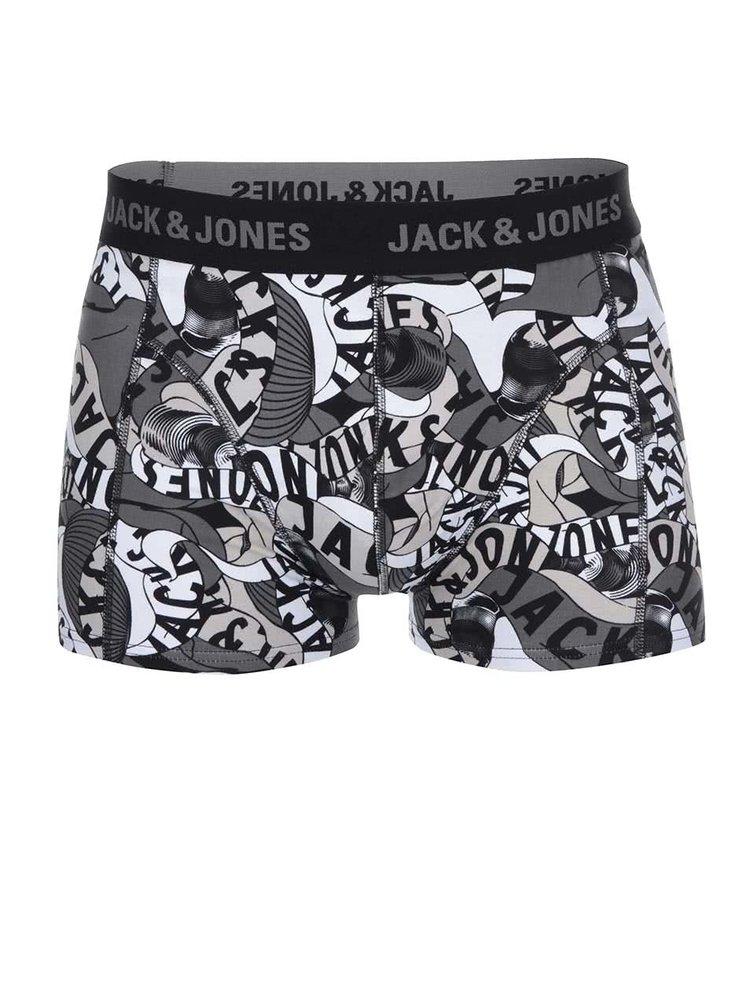 Čierne vzorované boxerky Jack & Jones Brooklyn