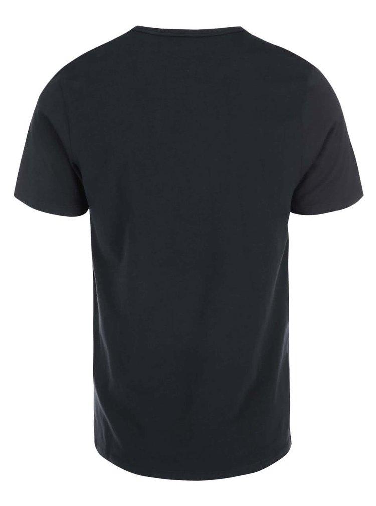 Tricou negru cu imprimeu vintage Jack & Jones Run