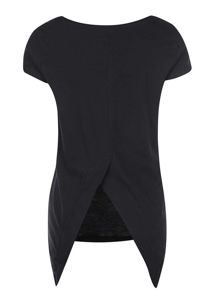 Čierny top s asymetrickým chrbtom Noisy May Mono
