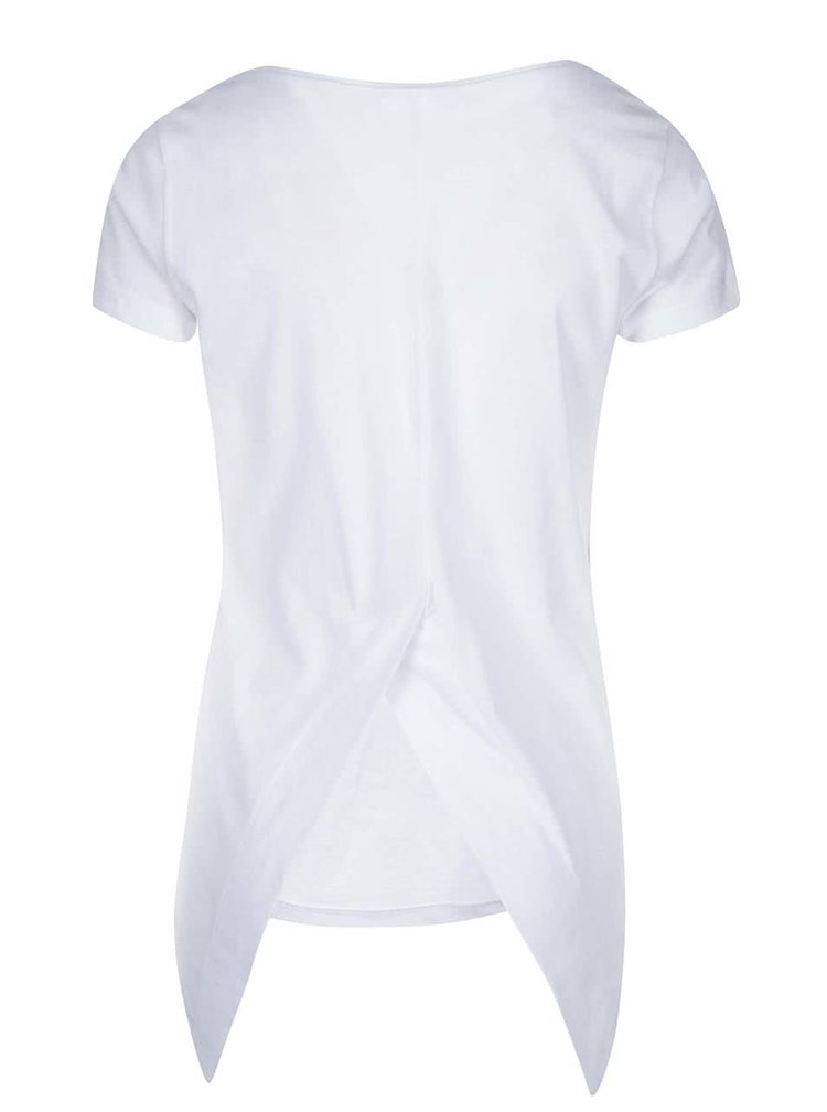 Top alb cu spate asimetric Noisy May Mono