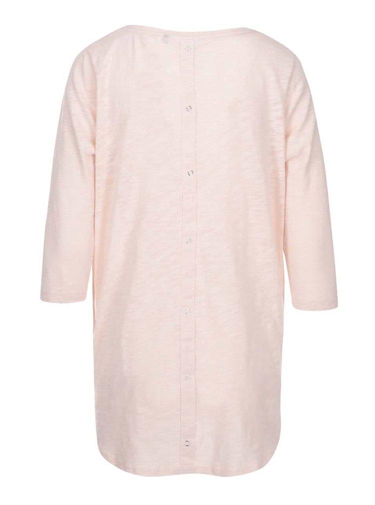 Svetloružové tričko s 3/4 rukávmi ONLY Casa