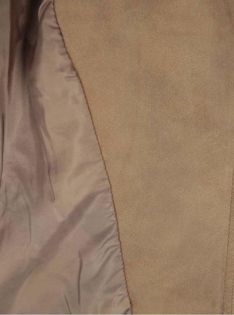 Hnědý koženkový křivák ONLY