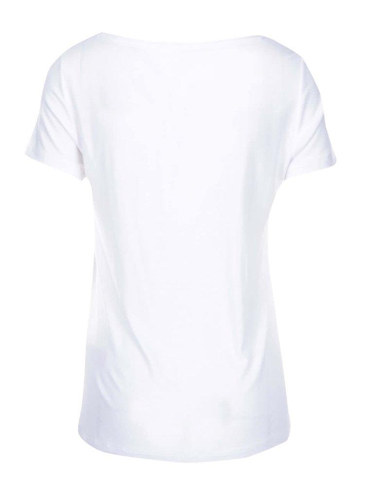Biele tričko s guľatým výstrihom ONLY Jewel