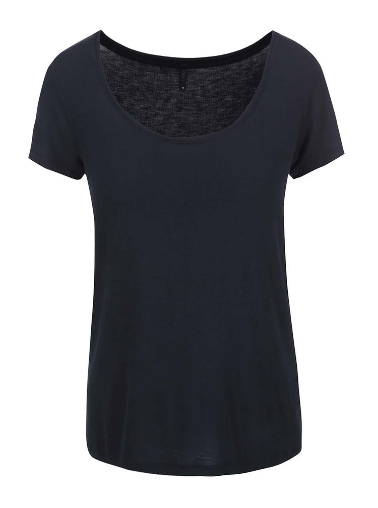 Tricou bleumarin cu decolteu rotund ONLY Jewel