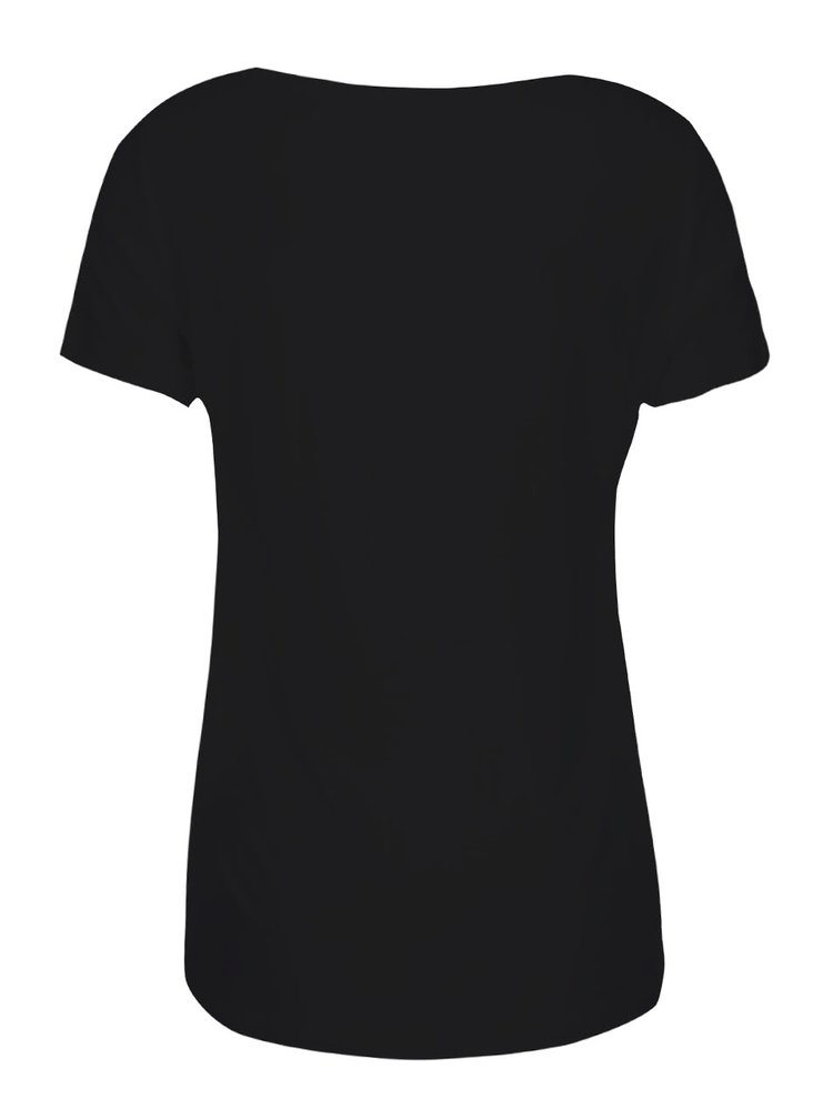 Černé tričko s kulatým výstřihem ONLY Jewel