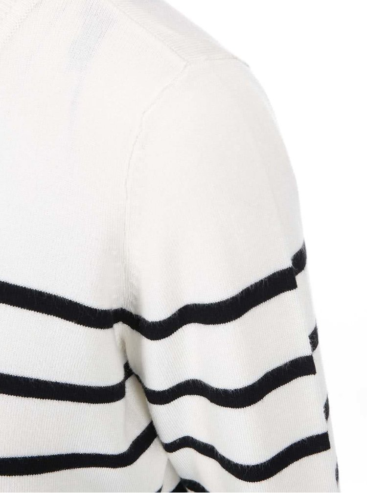 Krémový pruhovaný tenký svetr Only Mila