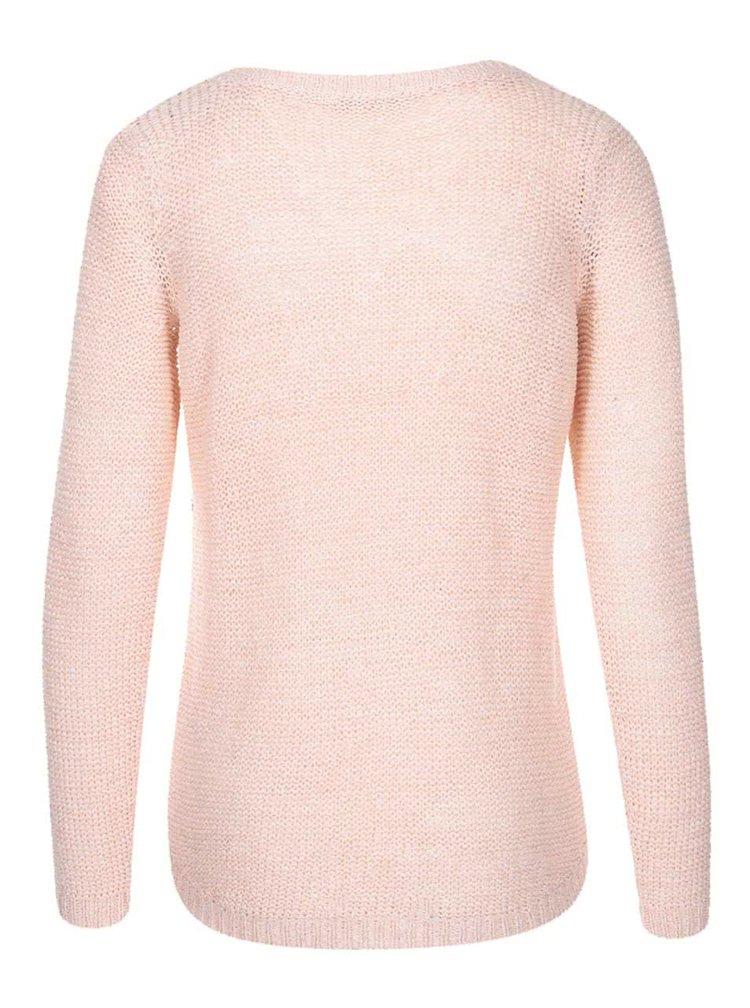 Svetloružový pletený sveter ONLY Geena