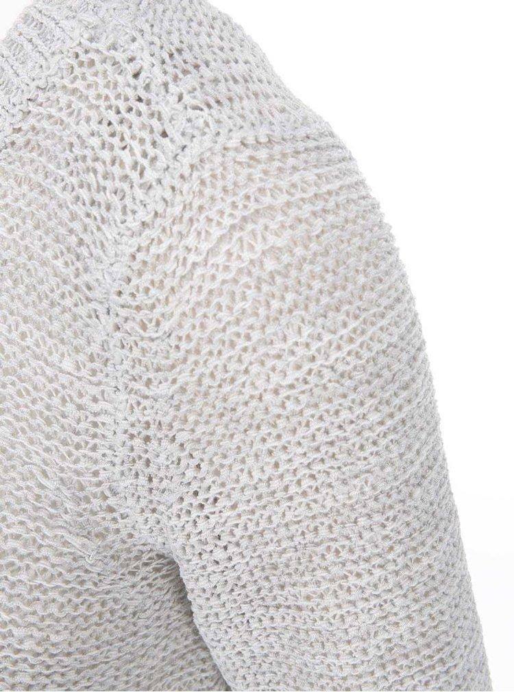 Pulover gri deschis tricotat ONLY Geena