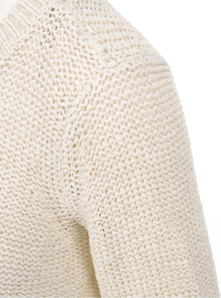 Pulover bej tricotat ONLY Geena